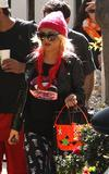 Christina Aguilera - Picking Her Son Up From School - October 31 2012 - (x12)