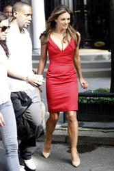 "Elizabeth Hurley – ""Gossip Girl"" set candids in New York, July 13"