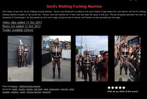 House of Gord: Gord's Walking Fucking Machine