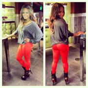 Christina Milian - booty in tight pants  10/05/12 Twitpic