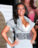 Mel B shows huge cleavage as she promotes the Ultimo lingerie range at Debenhams in London